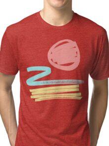 retro beach. Tri-blend T-Shirt