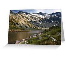 spring lights in mountain Greeting Card