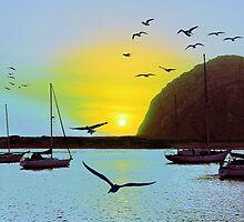 Sunset in Morro Bay by Igor Shrayer