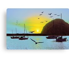 Sunset in Morro Bay Canvas Print