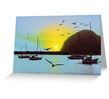Sunset in Morro Bay Greeting Card