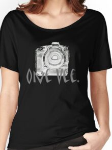 One Vee Black T Women's Relaxed Fit T-Shirt