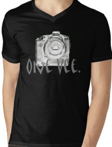 One Vee Black T Mens V-Neck T-Shirt