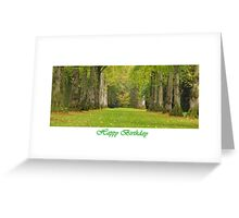Lime Symmetry Greeting Card