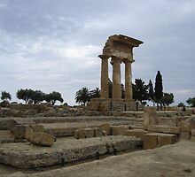 Ruins of Temple of Dioscuri, Agrigento, Sicily by jos2507