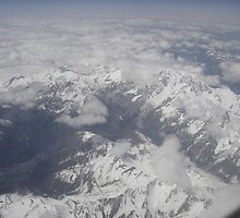 Mont-Blanc from the sky by jos2507
