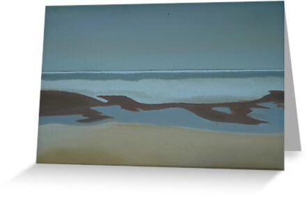 Headlands Beach in My Youth- Winter Scene by Sarah  Scherer Memorial