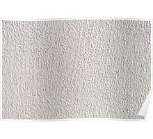 White grained wall surface texture  Poster