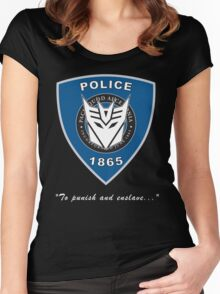 Transformers - Police Women's Fitted Scoop T-Shirt