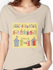 lots of beach huts Women's Relaxed Fit T-Shirt