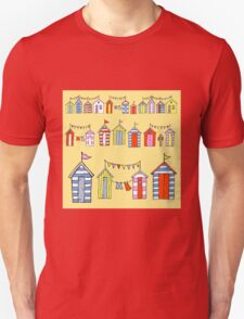 lots of beach huts Unisex T-Shirt
