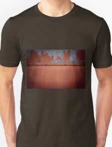 Rusty old metal wall abstract Unisex T-Shirt
