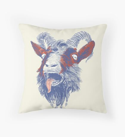 Rock Goat Throw Pillow