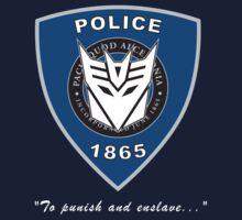 Transformers - Police Logo - Medium Size Logo Kids Tee