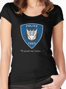 Transformers - Police Logo - Medium Size Logo Women's Fitted Scoop T-Shirt