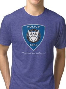 Transformers - Police Logo - Medium Size Logo Tri-blend T-Shirt