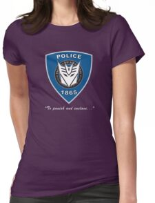 Transformers - Police Logo - Medium Size Logo Womens Fitted T-Shirt