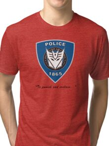 Transformers - Police Logo - Medium Size Logo Tri-blend T-Shirt