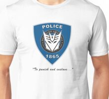 Transformers - Police Logo - Medium Size Logo Unisex T-Shirt