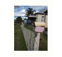 Fence With Character Art Print