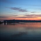 Penarth Sunset from Cardiff by cofiant