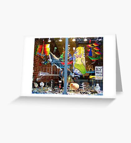 Window Shopping Greeting Card