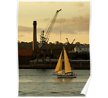 Evening Sail Cockatoo Island Poster