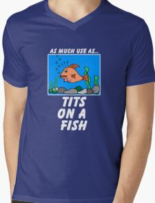 As Much Use as TFish Mens V-Neck T-Shirt