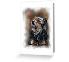Shaggy pet dog portrait Greeting Card