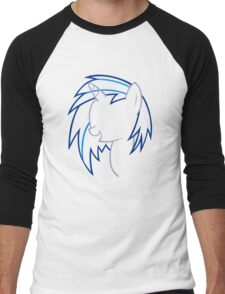 DJ VinylScratch Outline Men's Baseball ¾ T-Shirt