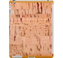 cork striped sheet texture abstract iPad Case/Skin