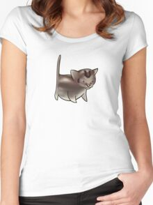 Cute Kitten Design Women's Fitted Scoop T-Shirt