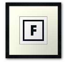 "Alphabet ""F"" Framed Print"