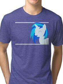 VinylScratch sillhouette Tri-blend T-Shirt