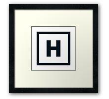 "Alphabet ""H"" Framed Print"