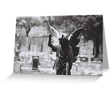 Shadowed Angel Greeting Card