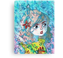 Watercolor Girl Canvas Print