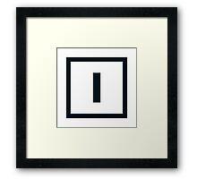 """Alphabet """"I"""" Framed Print"""