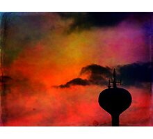 Water Tank Town Photographic Print