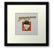 Indiana Scones & The Toaster of Doom Framed Print