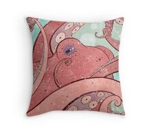 Tangled Ocean Octopus Throw Pillow