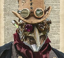 Steampunk guy Robo-man,Robot,Dictionary Art by DictionaryArt