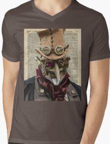 Steampunk guy Robo-man,Robot,Dictionary Art Mens V-Neck T-Shirt