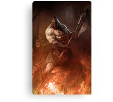 Infernal executioner Canvas Print