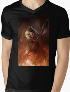 Infernal executioner Mens V-Neck T-Shirt