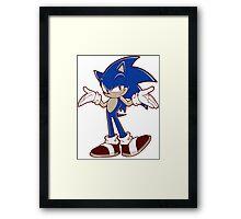 Minimalist Modern Sonic 2 Framed Print