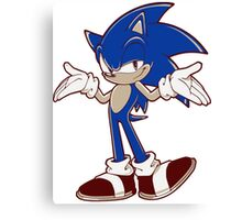 Minimalist Modern Sonic 2 Canvas Print