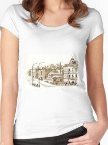 old town Women's Fitted Scoop T-Shirt
