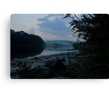 Fresh Rain River Side Canvas Print