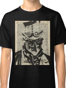 Steampunk guy Robo-man stencil,Robot,Dictionary Art Classic T-Shirt